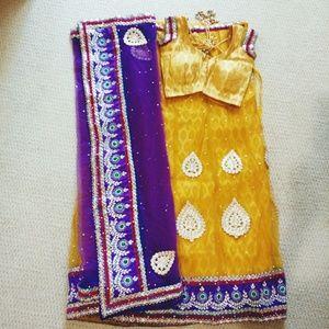 Yellow and Purple Choli